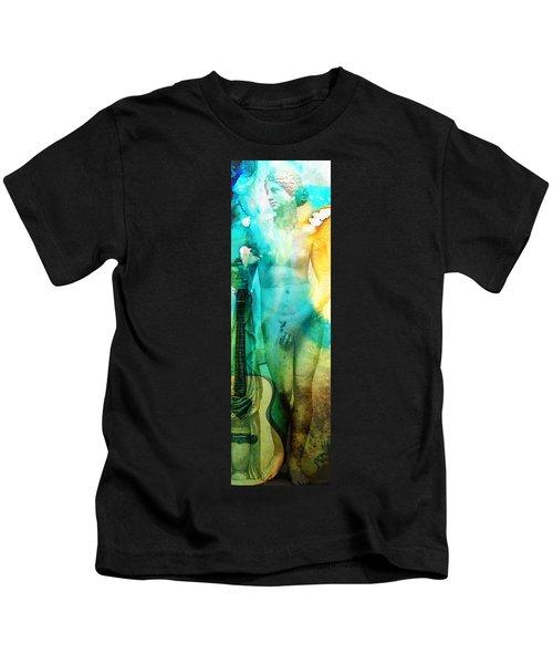 Aphrodite's First Love - Guitar Art By Sharon Cummings Kids T-Shirt