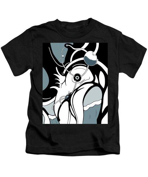Aqua Grid Kids T-Shirt