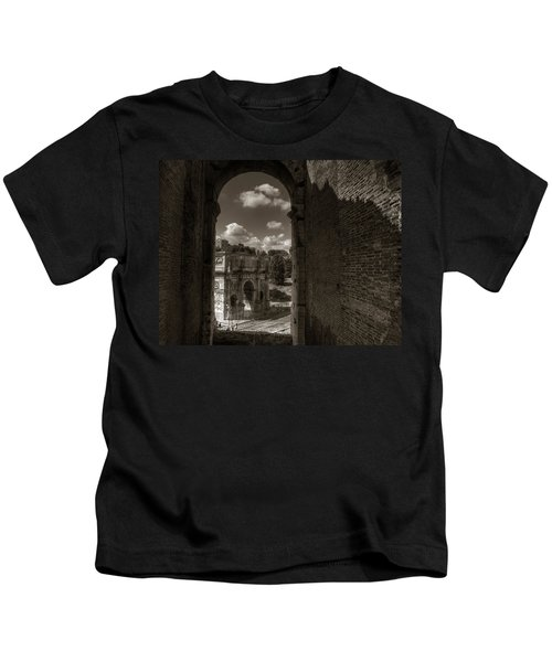 Arch Of Constantine From The Colosseum Kids T-Shirt