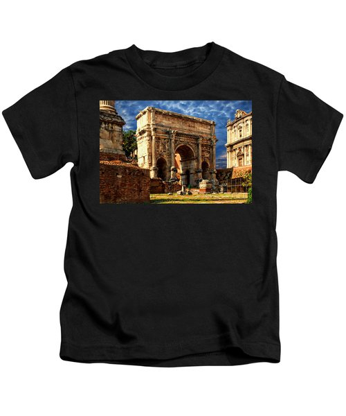 Arch Of Septimius Severus Kids T-Shirt