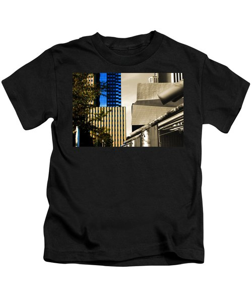 Architectural Crumpled Steel Gehry Kids T-Shirt