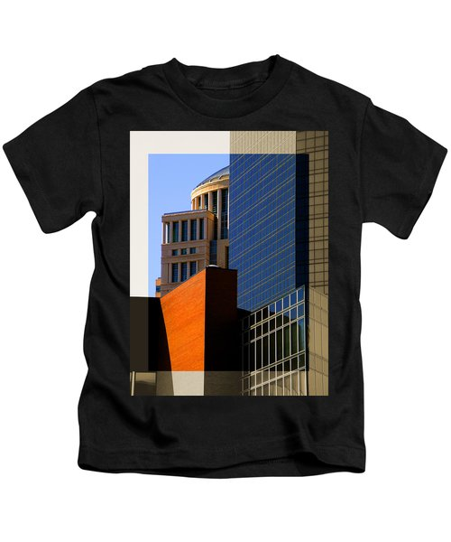 Architectural Stone Steel Glass Kids T-Shirt