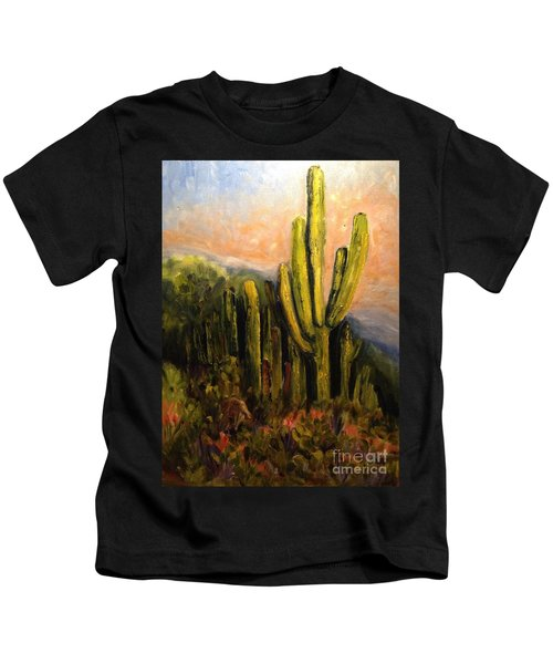 Arizona Desert Blooms Kids T-Shirt