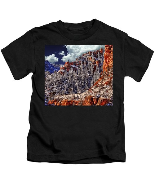 Arizona Secret Mountain Wilderness In Winter Kids T-Shirt