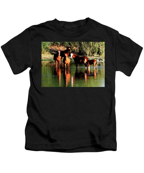 Arizona Wild Horses Kids T-Shirt