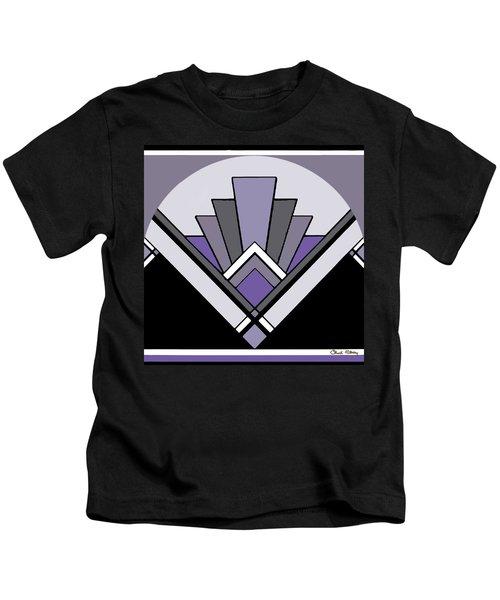 Art Deco Pattern Two - Purple Kids T-Shirt