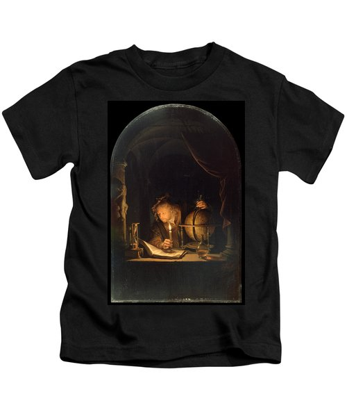 Astronomer By Candlelight Kids T-Shirt
