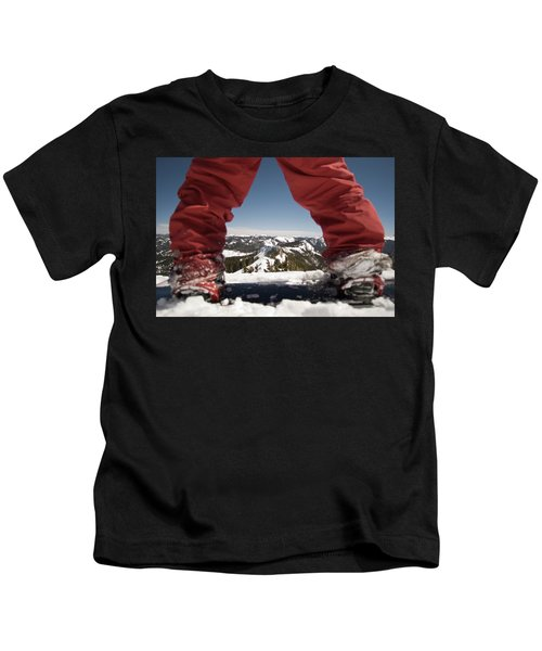 At The Top Of The Mountain Kids T-Shirt