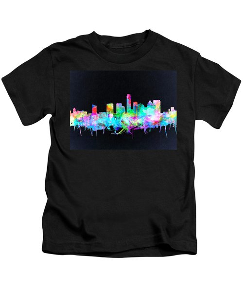 Austin Texas Skyline Watercolor 3 Kids T-Shirt