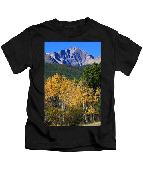Autumn Aspens And Longs Peak Kids T-Shirt