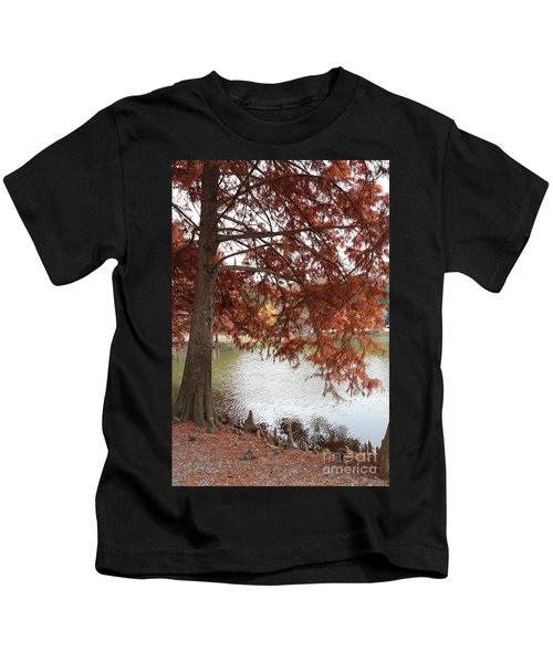 Autumn Cypress On Lake Ella Kids T-Shirt