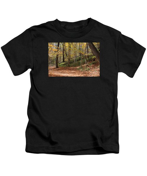 Autumn In Grant Park 4 Kids T-Shirt
