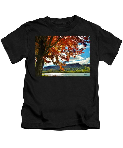 Autumn In Minnesota Kids T-Shirt