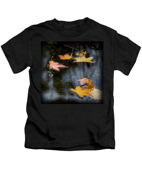Autumn Leaves On Water Kids T-Shirt