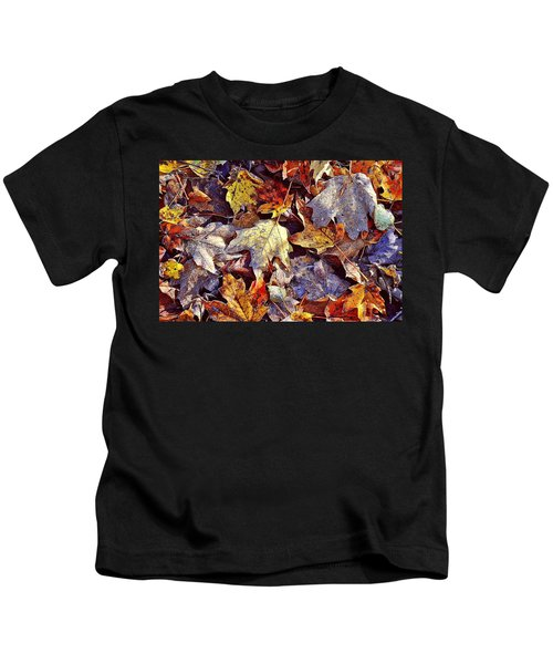 Autumn Leaves With Frost Kids T-Shirt