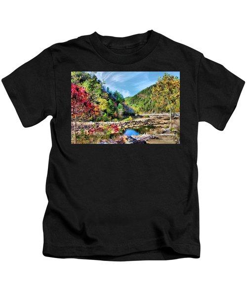 Autumn On The Ocoee Kids T-Shirt