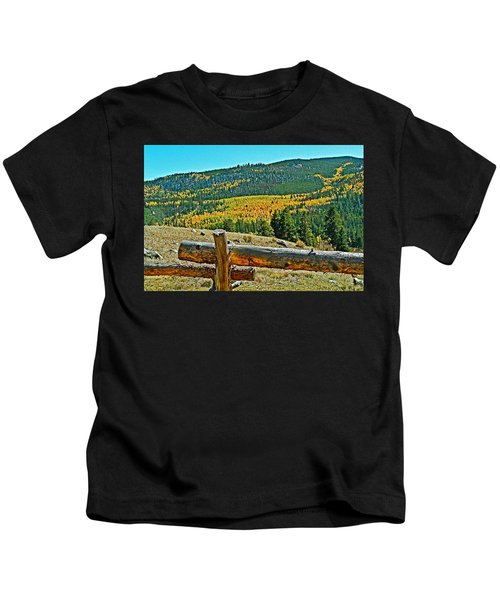 Autumn View From Road Into Clear Creek Canyon-colorado  Kids T-Shirt