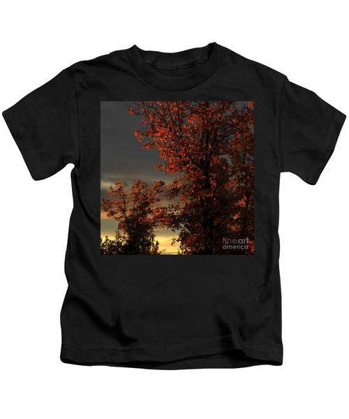 Autumn's First Light Kids T-Shirt