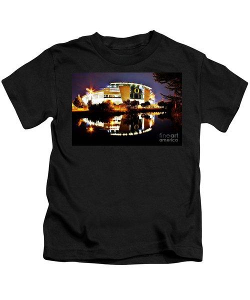 Autzen At Night Kids T-Shirt