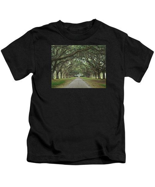 147706-avenue Of The Oaks  Kids T-Shirt