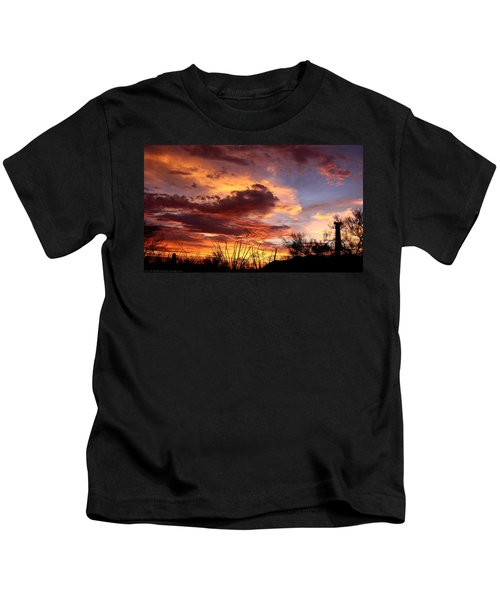 Az Monsoon Sunset Kids T-Shirt