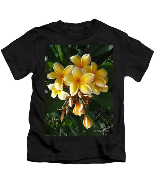 Aztec Gold Plumeria Kids T-Shirt