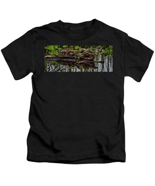 Baby Alligators Reflection Kids T-Shirt