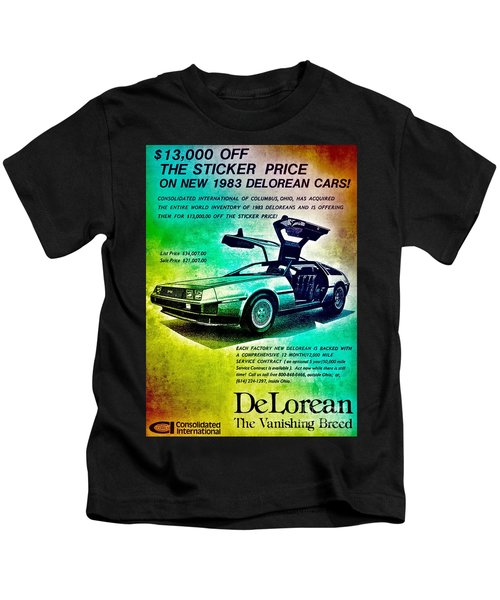 Back To The Delorean Kids T-Shirt