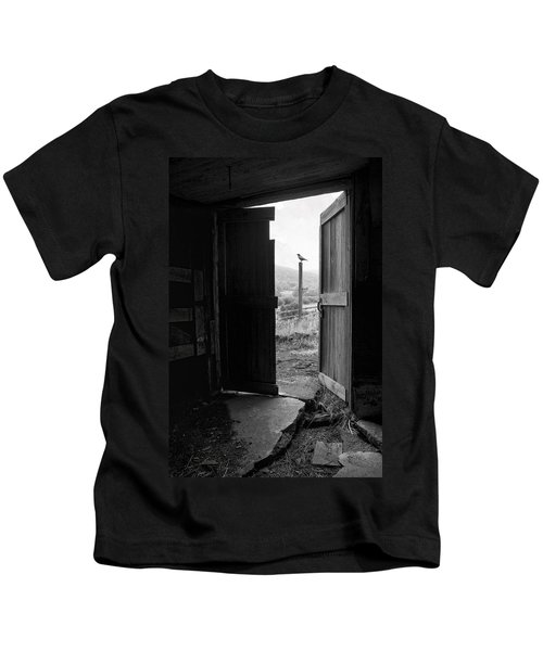 Barn Door - View From Within - Old Barn Picture Kids T-Shirt