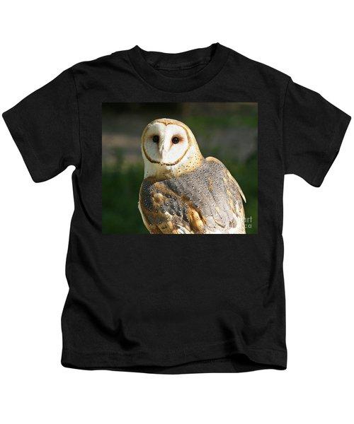 Barn Owl In Bright Sun Kids T-Shirt