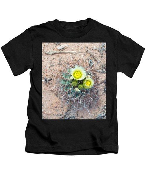 Barrel Cactus Blossoms Kids T-Shirt