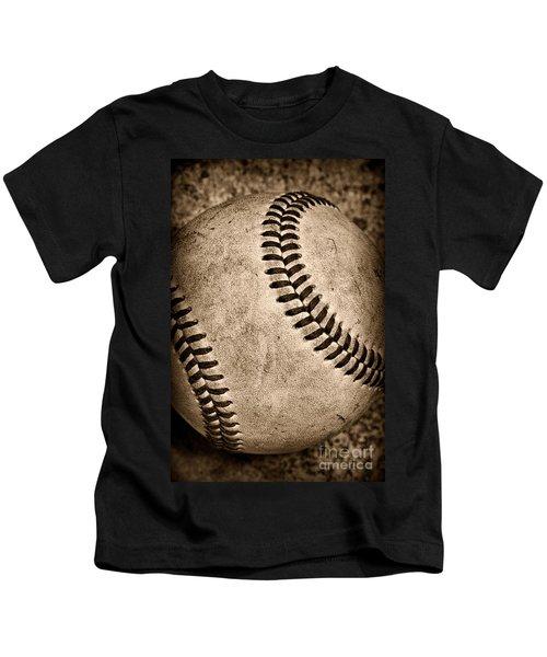 Baseball Old And Worn Kids T-Shirt
