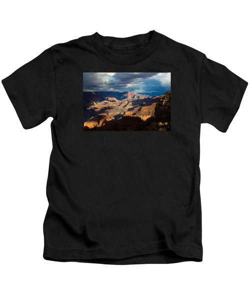 Battleship Rock In The Shadows Kids T-Shirt