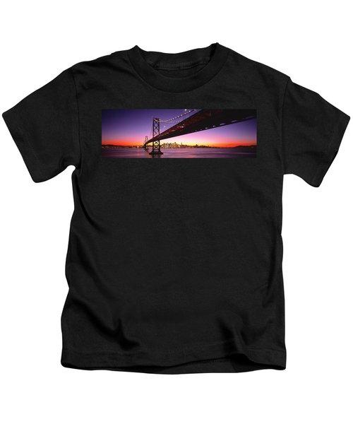 Bay Bridge San Francisco Ca Usa Kids T-Shirt