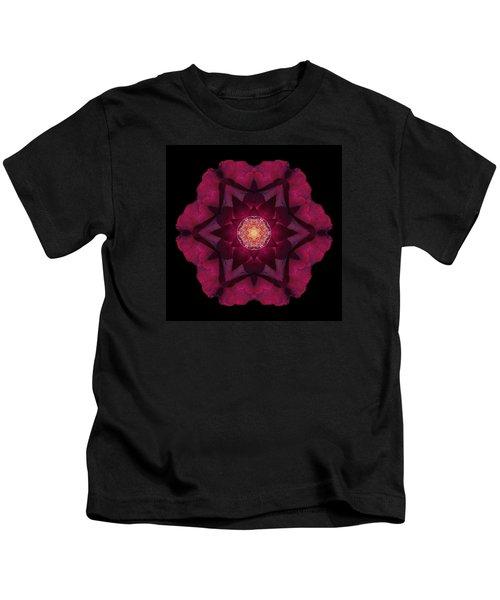 Beach Rose I Flower Mandala Kids T-Shirt
