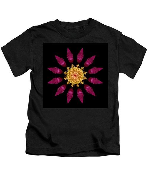 Beach Rose Iv Flower Mandala Kids T-Shirt