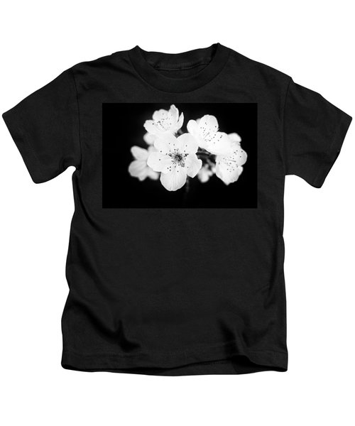 Beautiful Blossoms In Black And White Kids T-Shirt