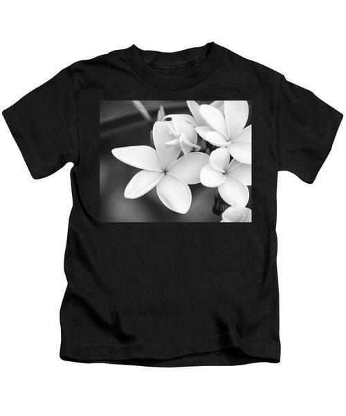 Beautiful Plumeria In Black And White Kids T-Shirt
