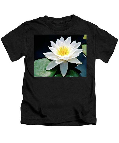 Beautiful Water Lily Capture Kids T-Shirt