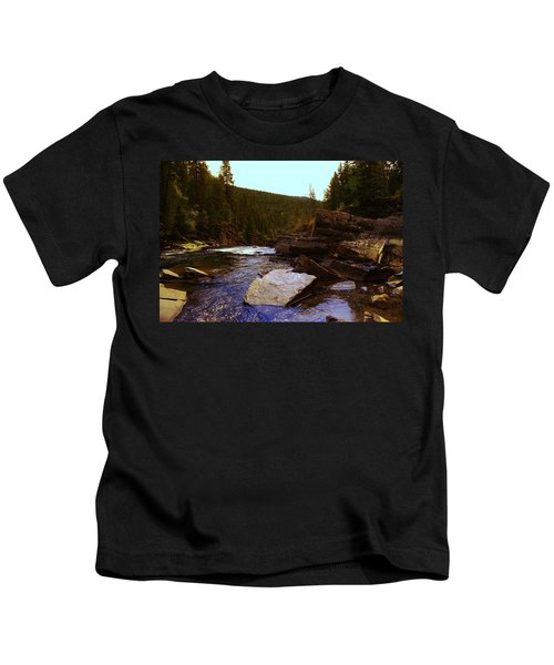 Beautiful Yak River Montana Kids T-Shirt