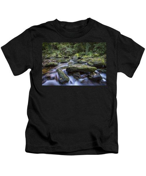 Belelle River Neda Galicia Spain Kids T-Shirt