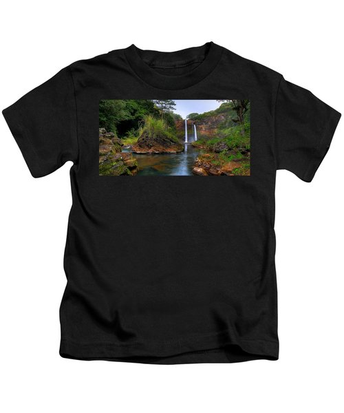 Below Wailua Falls Kids T-Shirt