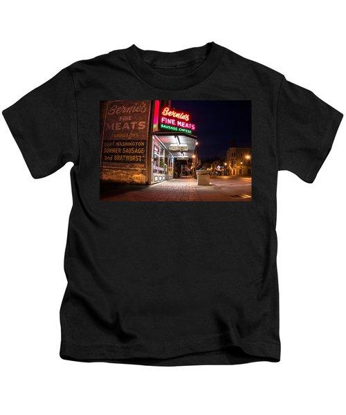 Bernies Fine Meats Signage Kids T-Shirt