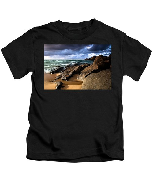 Between Rocks And Water Kids T-Shirt