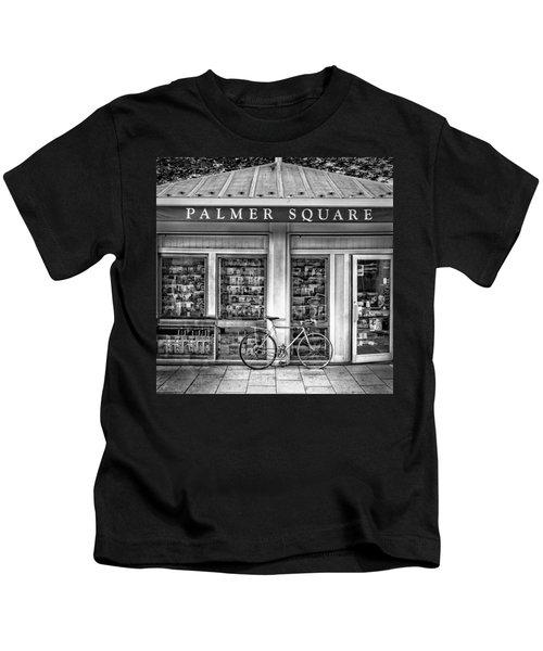 Bike At Palmer Square Book Store In Princeton Kids T-Shirt