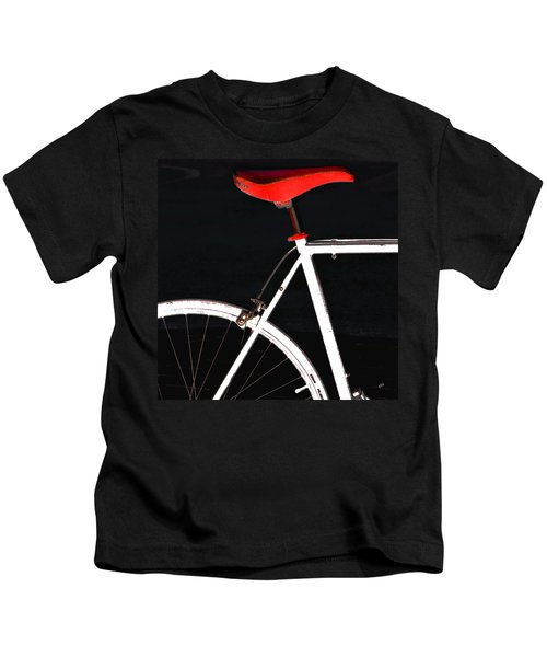 Bike In Black White And Red No 1 Kids T-Shirt