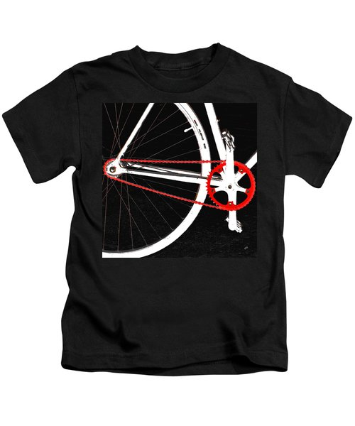Bike In Black White And Red No 2 Kids T-Shirt