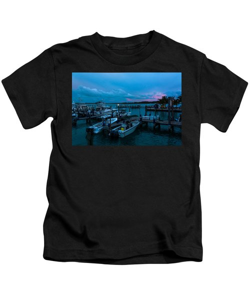 Bimini Big Game Club Docks After Sundown Kids T-Shirt