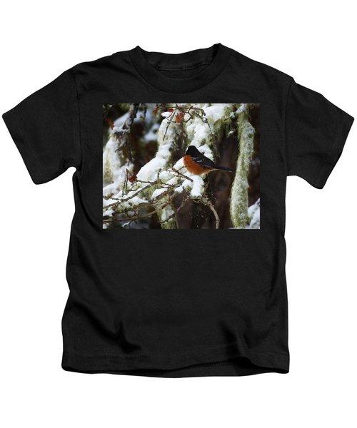 Bird In Snow Kids T-Shirt