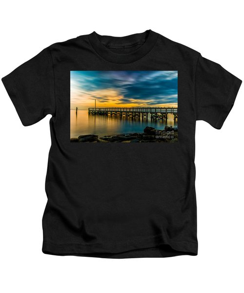 Birds On The Dock Kids T-Shirt